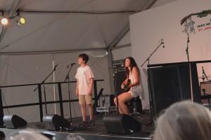 Kinkaid freshman Austin Karowsky performs