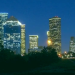 The Houston skyline sparkles at night. Explore the city with our suggestions.
