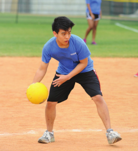 Junior Joe Kang competes for Hoodwink in last year's Field Day, which incorporated both Upper and Middle School.