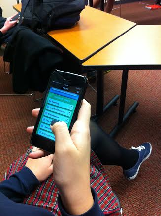 Students test knowledge outside classroom with app