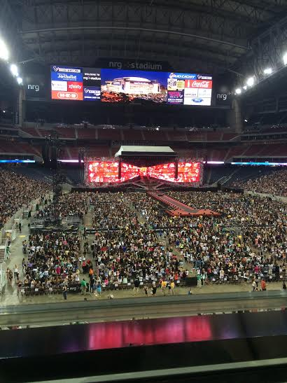 Crowds flooded the NRG stadium for One Direction's Houston concert.