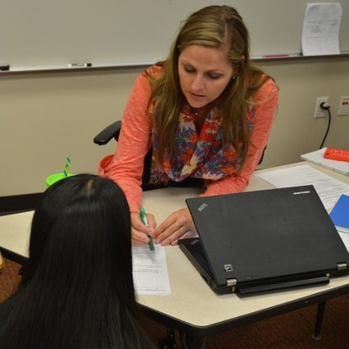 Math teacher Danielle became a teacher after a venture into business.