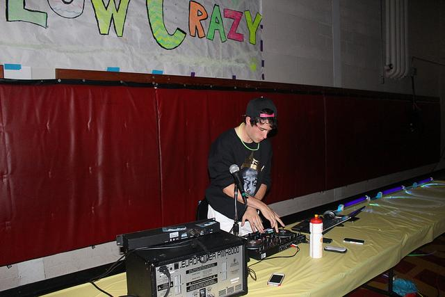 Senior Julian Henry DJed the dance, playing pop songs with electronic twists.