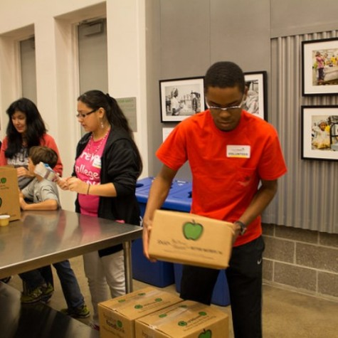 First all-school community service project bridges ages, grades