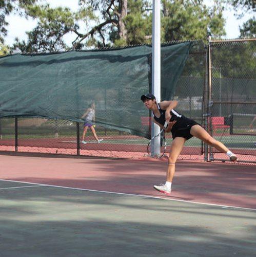 Junior Natasha Gonzalez leads the girls' tennis team this year alongside senior Tamara Shan. The team is 7-0 going into SPC.