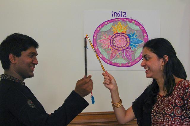 Seniors Suman Atluri and Amina Matin, the leaders of SAAG, helped organize International Day.
