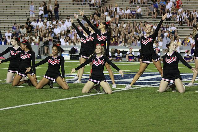 The student spirit kept the game lively. (Nyla Jennings)