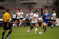 Girls' soccer plays against Episcopal High School in Scotty Caven Field.