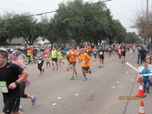 Runners in the Chevron Houston Marathon could run either 13 miles or 26.2 miles.