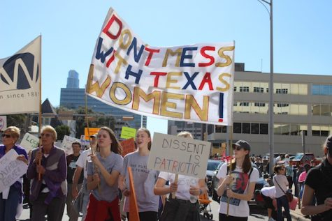 Sophie Gillard attended the Women's March on Austin on Jan. 21.