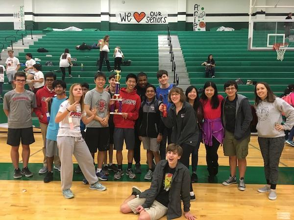 Students won first place in seven different events. The Upper School finished second overall in the small school division.