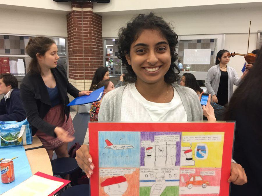 Freshman Natasha Faruqui won fifth place for her cartoon art.