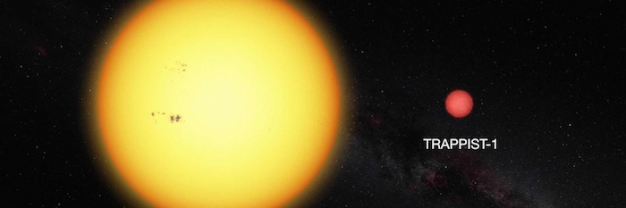 Pictured+is+the+relative+size+of+the+sun+with+respect+to+the+TRAPPIST-1a+star.