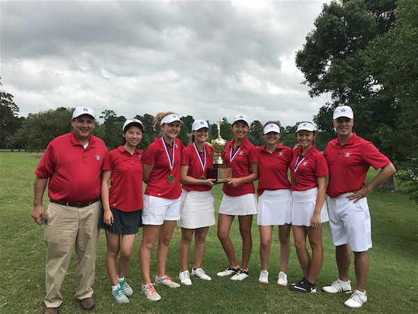 Girls' golf took first at SPC for the first time in four years.