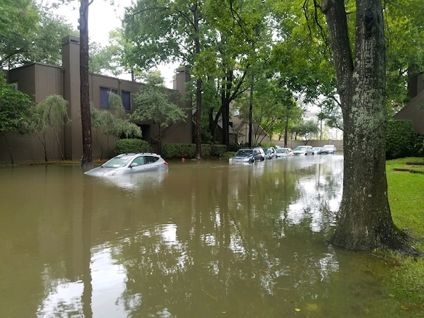 Flooding from heavy rains majorly impacted different Houston neighborhoods.