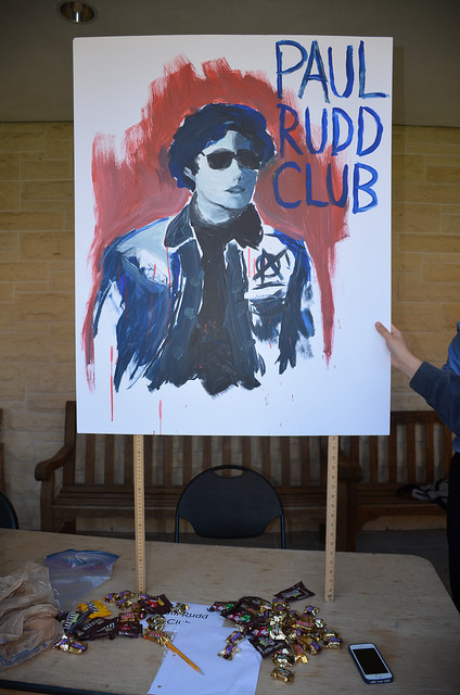 The+new+Paul+Rudd+club+advertised+with+a+hand+painted+poster.+