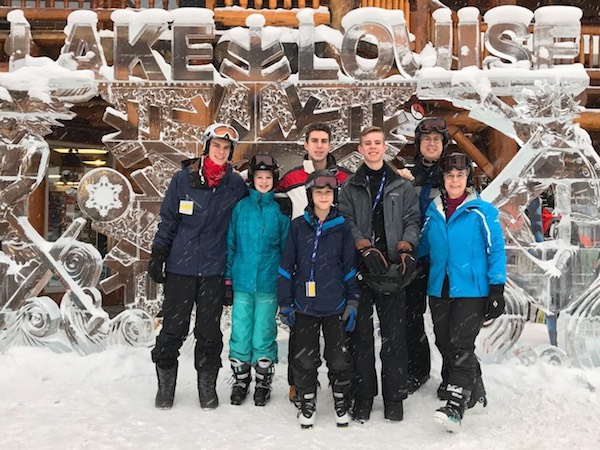 The Fiedoreks enjoyed the winter activities and nature surrounding them in Calgary.