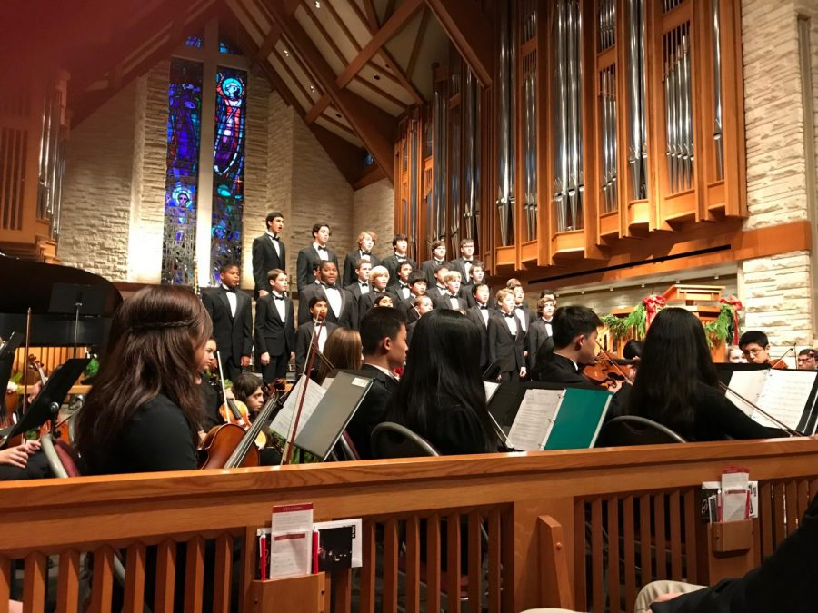 Orchestra accompanies Boy Choir's performance of