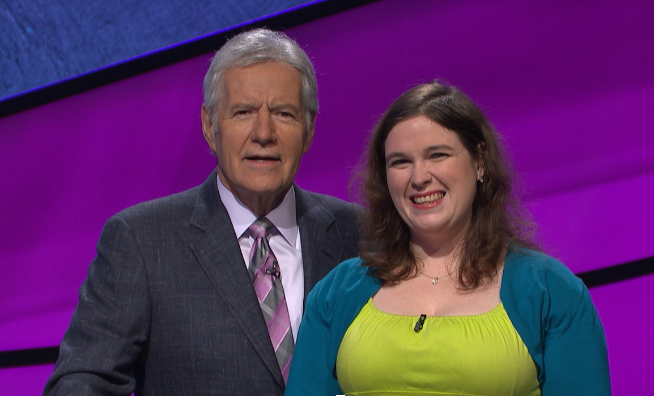 Henkoff+stands+with+%22Jeopardy%21%22+host+Alex+Trebek.