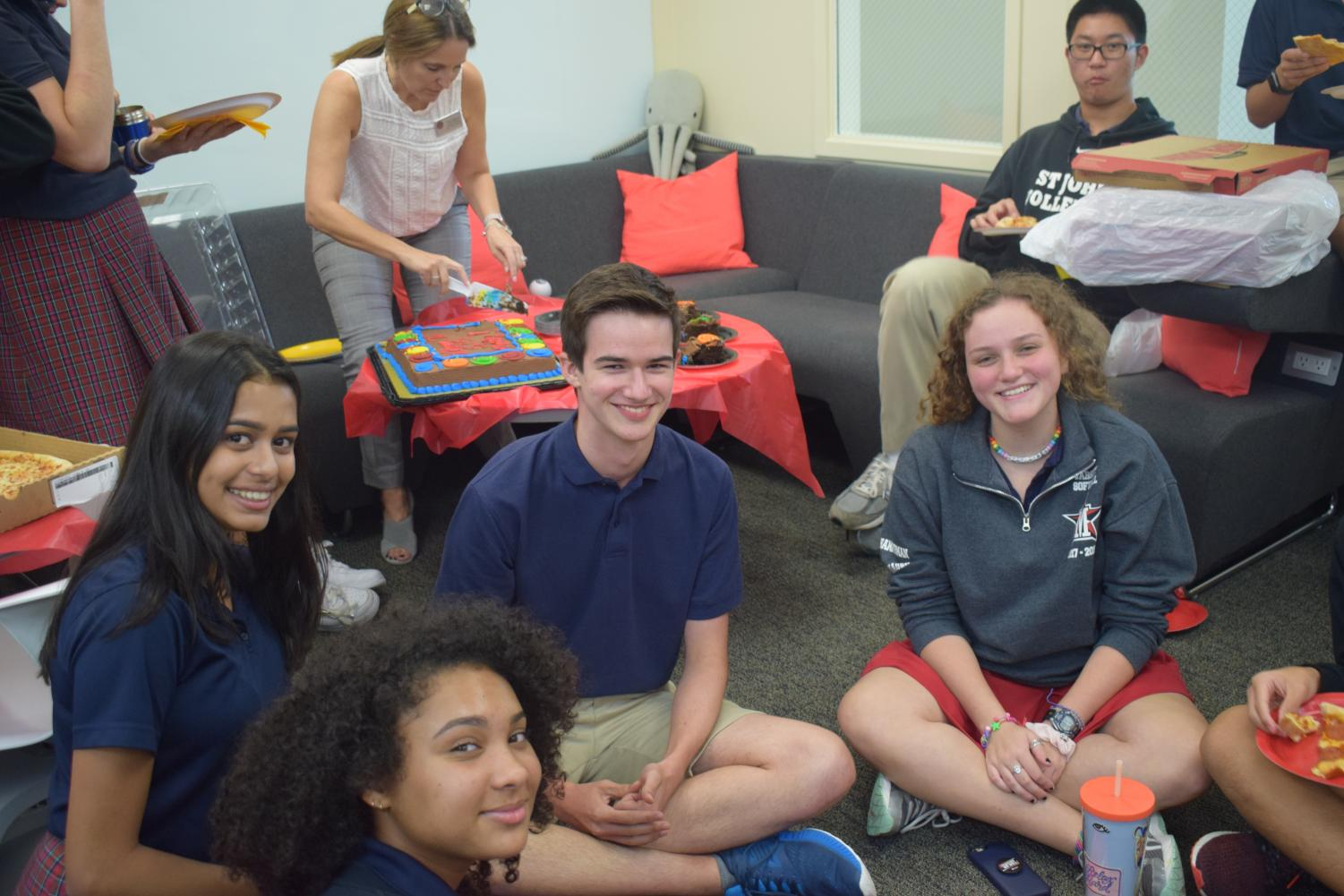 Wiesinger's classmates throw him a welcome party.