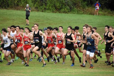 Boys' and girls' cross country compete in muddy Brenham Hillacious