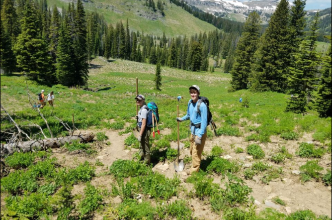 Long hikes were a part of Bennett-Brandt's daily routine in the Grand Tetons.
