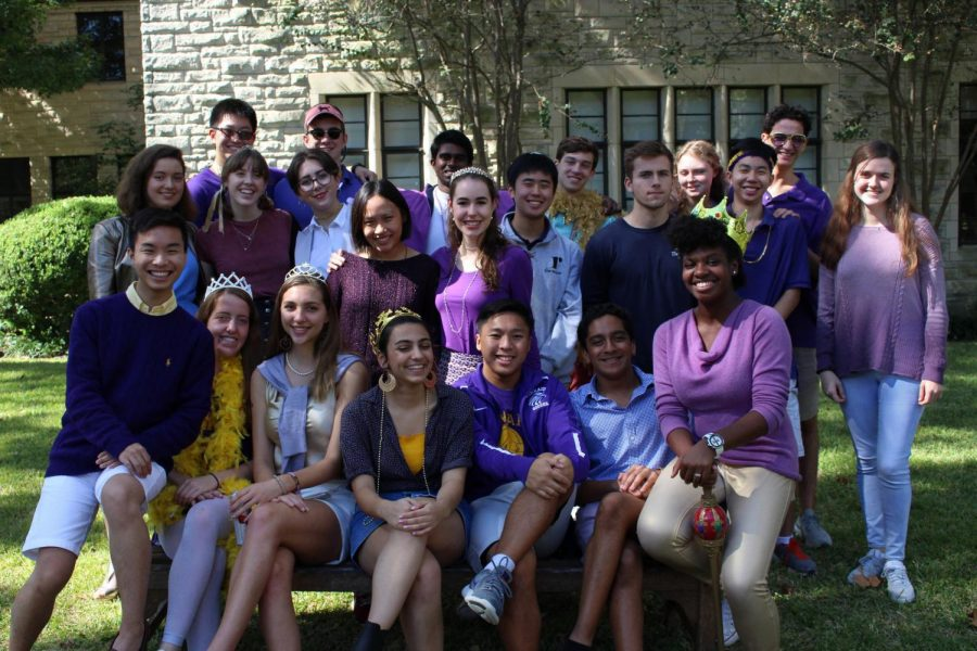 The Review seniors show off their Falcon colors on Dress Like Kinkaid Day.