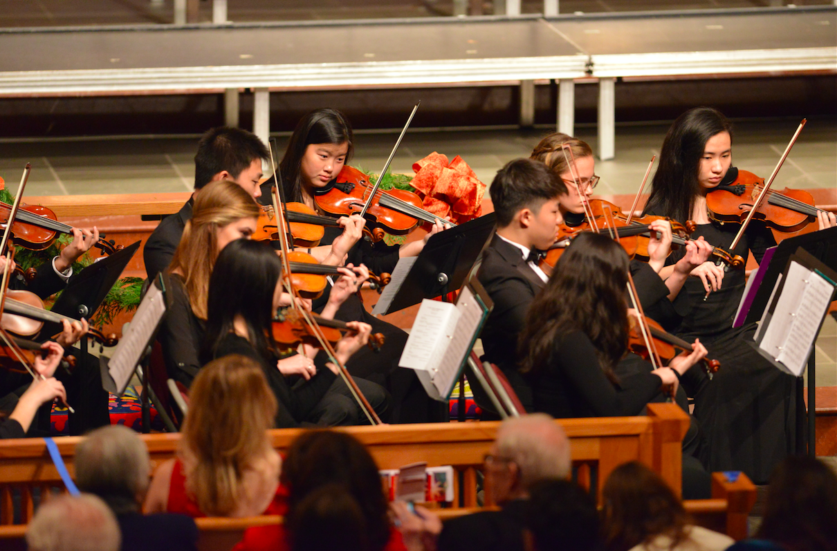 """Chamber Strings accompanied Chorale for """"In Terra Pax."""""""