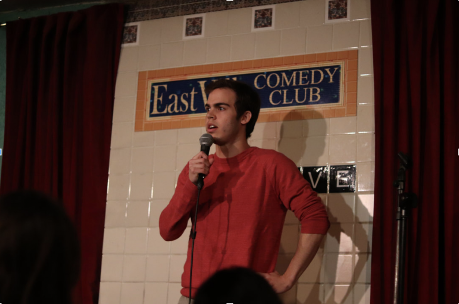 Jake+Schick+performs+a+comedy+routine+at+EastVille+Comedy+Club.