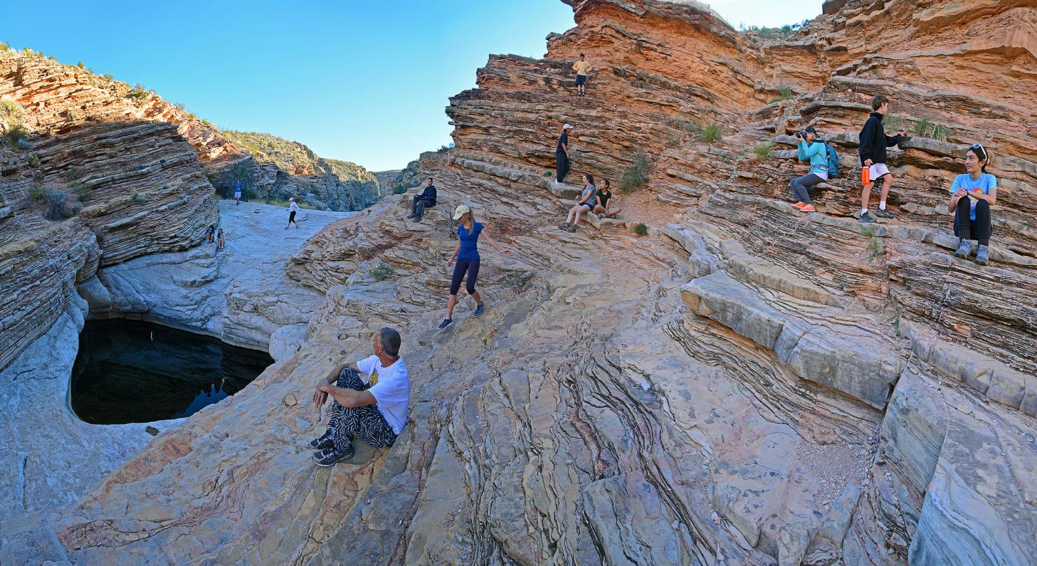 Last year's eighth graders enjoy the view on one of their hikes. Because the 35-day-long government shutdown has ended, the Class of 2023's Big Bend trip will take place.