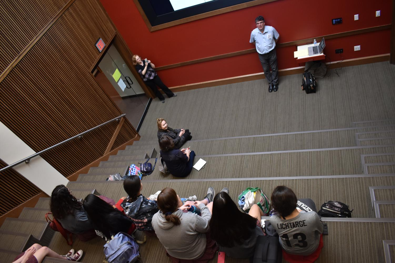 Nadeau's presentation was one of the first to be held in the new Atrium.