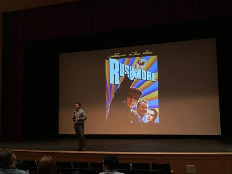 Joshua Pesikoff ('87) introduced the film to parents, students, alumni and faculty who attended.