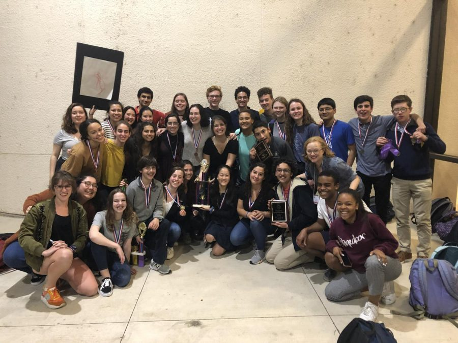 The French Symposium team came home with a second-place trophy.