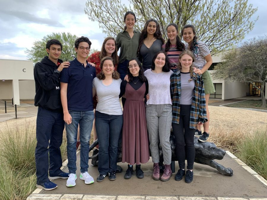 This+group+of+seniors+was+the+largest+in+attendance+this+year.+Left+to+right+%28front%29%3A+Raunak+Kundagrami%2C+Eli+Maierson%2C+Sophia+Kontos%2C+Juliana+Aviles%2C+Josephine+Dodd+and+Sophie+Gillard.+%28Back%29%3A+Caroline+Burnett%2C+Catherine+Gorman%2C+Sara+Lichtarge%2C+Margaret+Gorman+and+Tara+Samson-Williams.