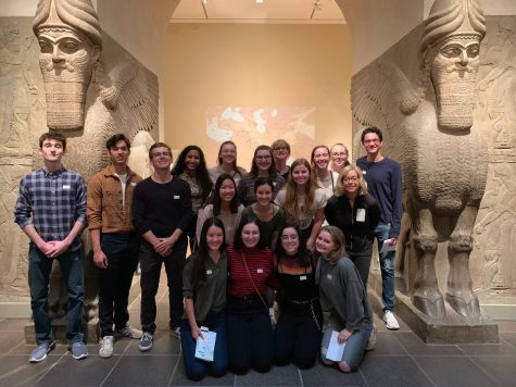 Art History students, with teacher Hollis Amley, pose for a picture in the Met.