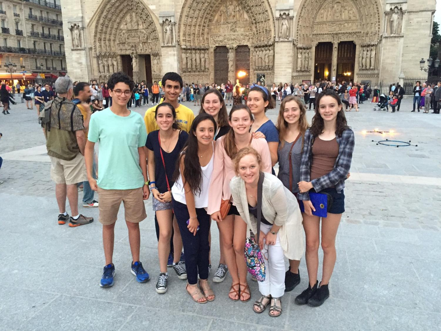 French students visited the cathedral on their trip to Paris in 2016.