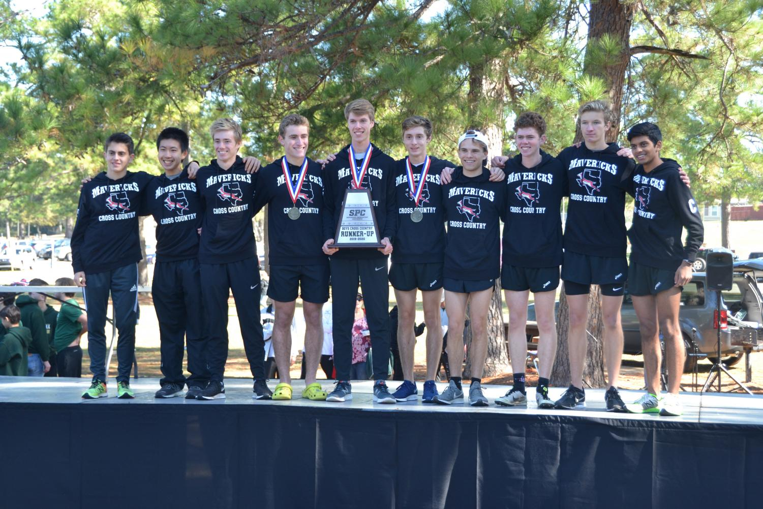 Boys' cross country finished second in this year's SPC race.
