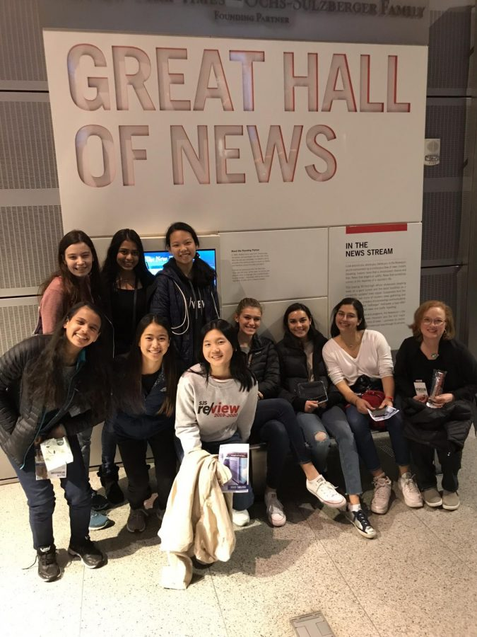 Review editors toured the Newseum on their Washington, D.C.trip before it closed in January.
