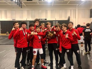 Wrestling off to strong start, wins first of Trifecta of championships