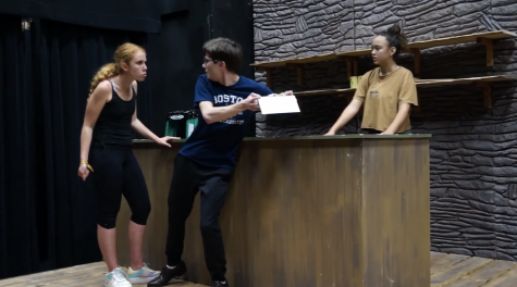 "The cast of ""The Cripple of Inishmaan"" has been attending regular rehearsals in the Black Box leading up to the play."