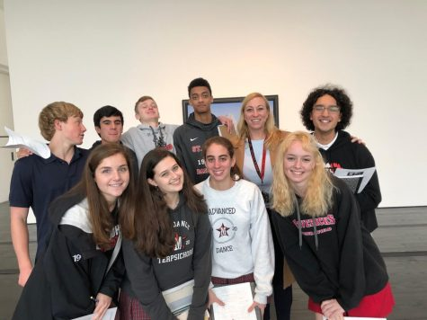 The AP French class explores Surrealist exhibits at the Menil Drawing Institute.