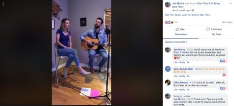After their live concert was cancelled, the Flinns decided to live stream for the guests that had RSVP'd.