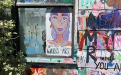 Junior Julia Smith creates a bright message to let young artists know that they are all works of art.