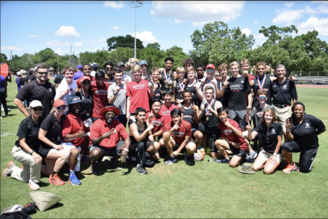 The SJS Track & Field team at last year's SPC championship.