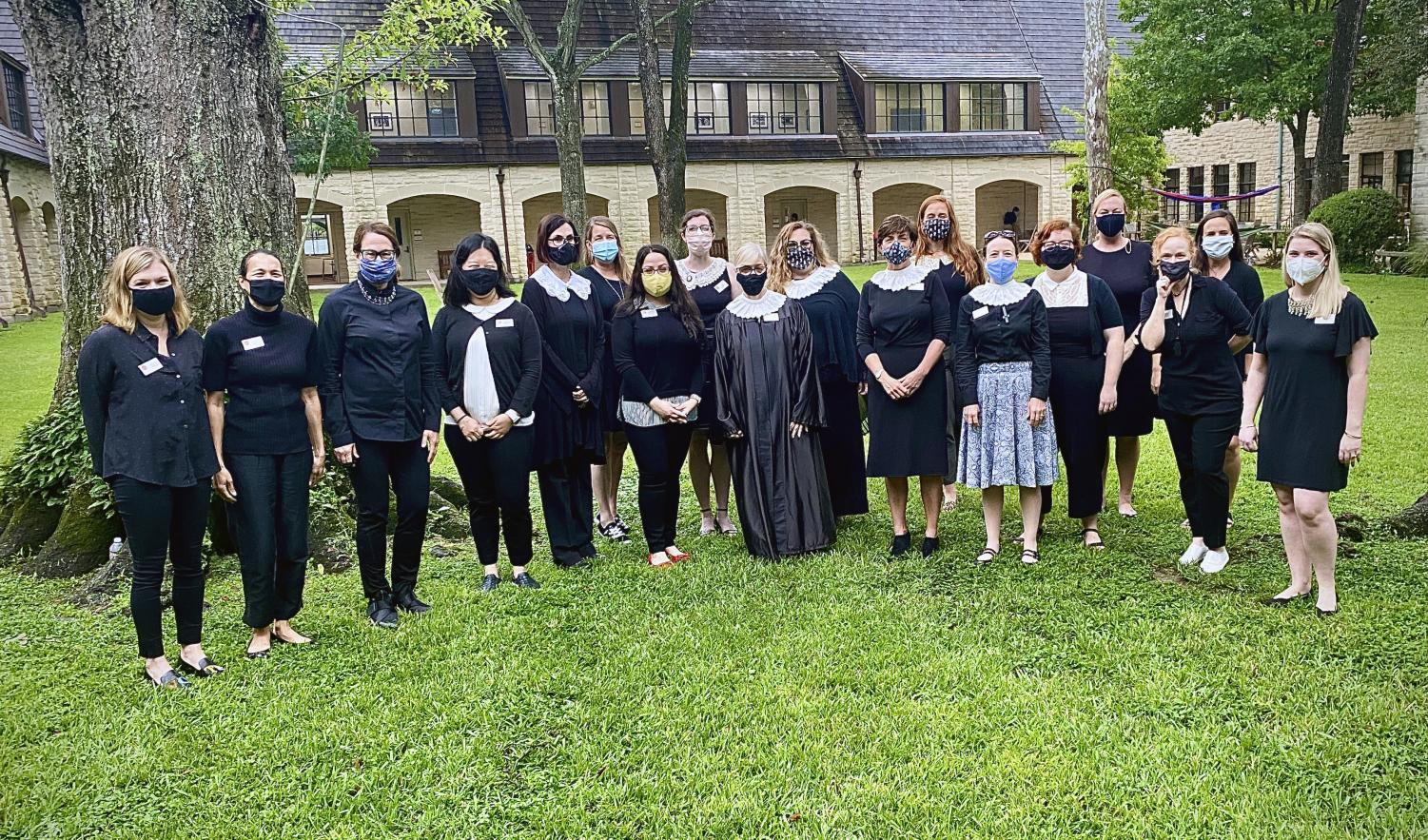 Faculty members across departments wore collars and black attire to school on Sept. 21 to honor the legacy of Ruth Bader Ginsburg.