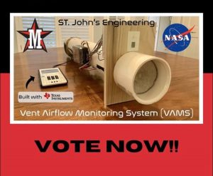 On Sept. 14, four seniors placed in the top 10 in the NASA & TI Codes contest with their air monitoring system.