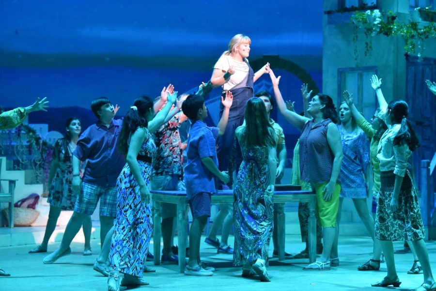Last years musical, Mamma Mia!, drew a crowd of over 600 people. Theater productions for 2020-2021 have been modified to perform safely.