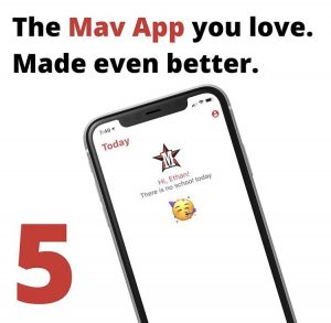 Saadia updated the Mav App to reflect the new schedule.