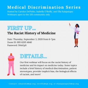 The first webinar on Sept. 3 covered racism in a medical setting, from the mental and physical effects of racism on BIPOC to common stereotypes held by practitioners.