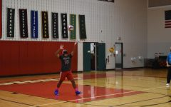 Setter senior Shehryar Jafry tosses the ball to pressure serve their opponents the Houston Stars.